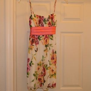 City Triangles Flowered Dress      Size S